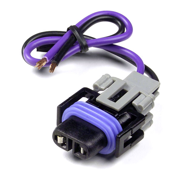 84 1072 Fog Light Harness Assembly Purple Black