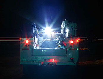 Grote LED lights on service truck