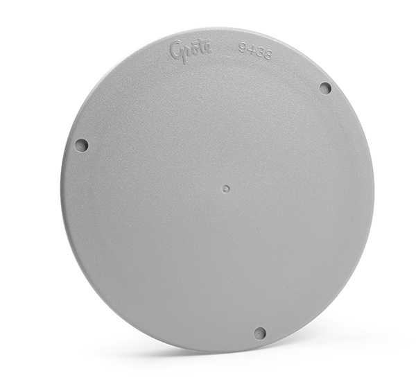 94380-4 – Snap-In Cover Plate, 4″ Round, Gray