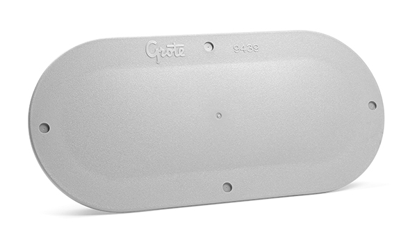 94390-4 – Snap-In Cover Plate, 6″ Oval, Gray