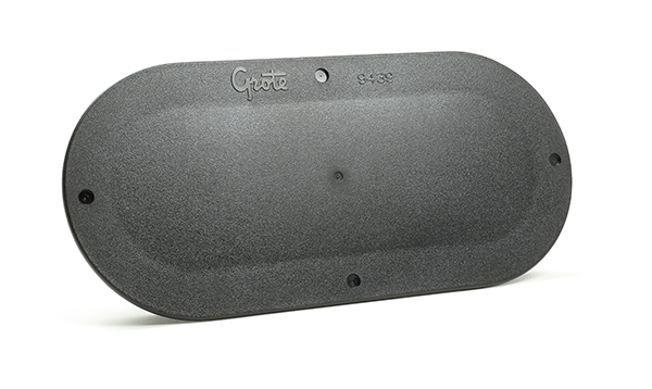 94392-4 – Snap-In Cover Plate, 6″ Oval, Black