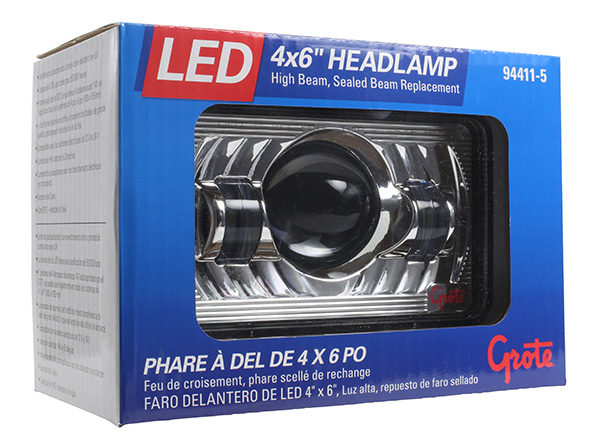 4x6 LED Headlight in retail package