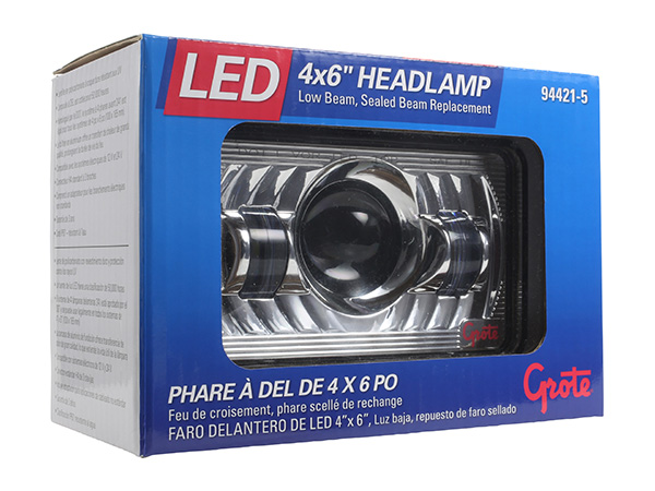 4x6 LED Headlight in box