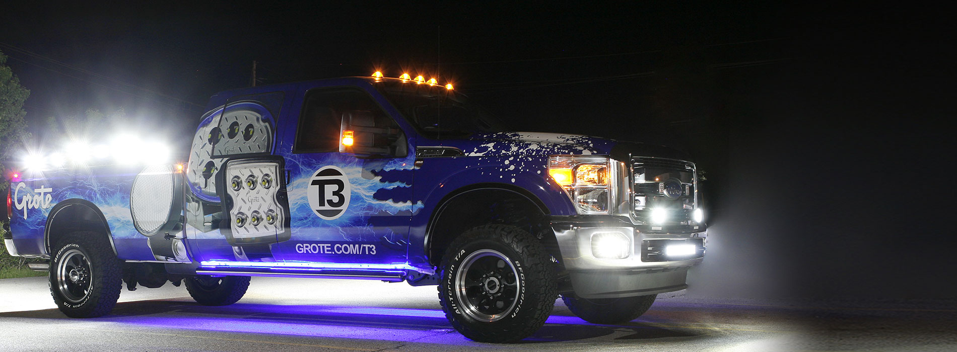 2017 Grote T3 Truck covered in LED Lights