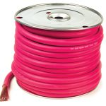 spool of red welding cable