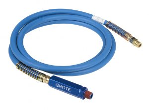 81-0112-BGB – Rubber Air Lines, Length 12′, Blue, With Blue Anodized Grip