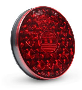 55082 – 4″ Round LED Stop Tail Turn Light, Red, Matches 55162 Optic Design