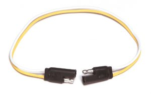 82-1038 – Molded Trailer Connector, 2 Pole Flat, 24″