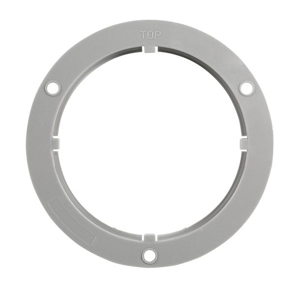 BRK4230G-PG – Flange for 4″ Round Lights, Gray
