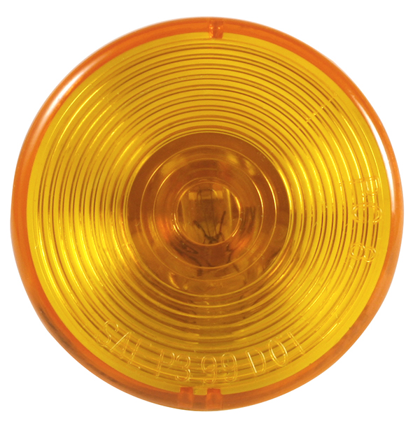 Grote Industries - MKR4610Y-PG – Choice Line Signal Lighting, 2 1/2″ Round Clearance Marker Light, Incandescent, Yellow