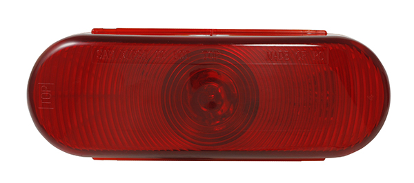 Grote Industries - STT5010R-PG – Choice Line Signal Lighting, 6″ Oval Stop Tail Turn Light, Incandescent, Red