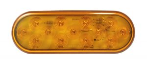 TUR5000Y-PG – Choice Line Signal Lighting, 6″ Oval, 12-Diode LED Rear Turn Light, Yellow