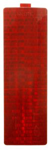 41192-3 – Stick-On Tape Reflector, Red, Rectangular