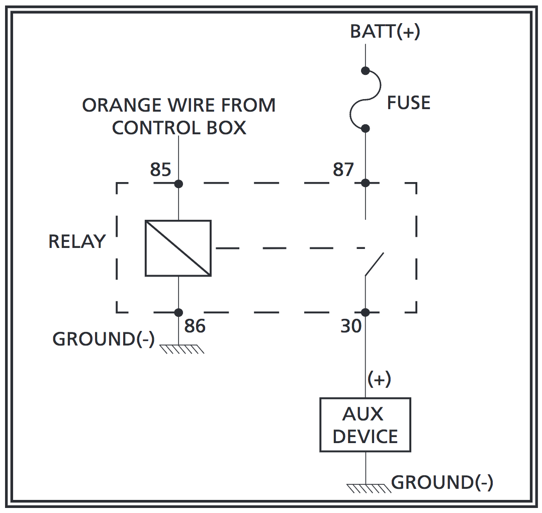 Wiring for Auxiliary Output