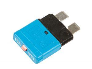 82-2356 – Standard Blade Circuit Breaker, Blue, 15 Amp