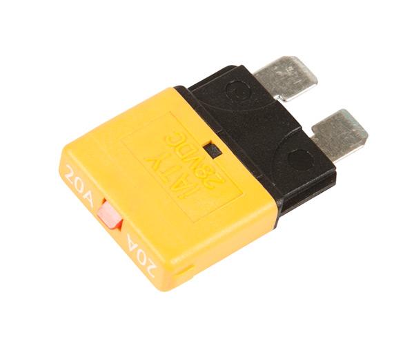 Grote Industries - 82-2357 – Standard Blade Circuit Breaker, Yellow, 20 Amp