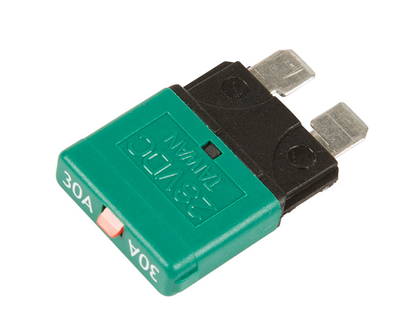 82-2359 – Standard Blade Circuit Breaker, Green, 30 Amp