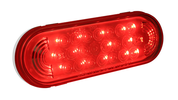 Grote Industries - 54802 – SuperNova® Oval LED Stop Tail Turn Light, Grommet Mount, Hard Wired, Red