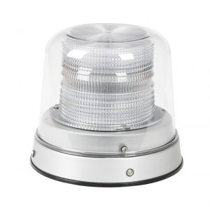 78011 – LED Beacon, Class I, Permanent Mount, Tall Dome, White, Clear Dome