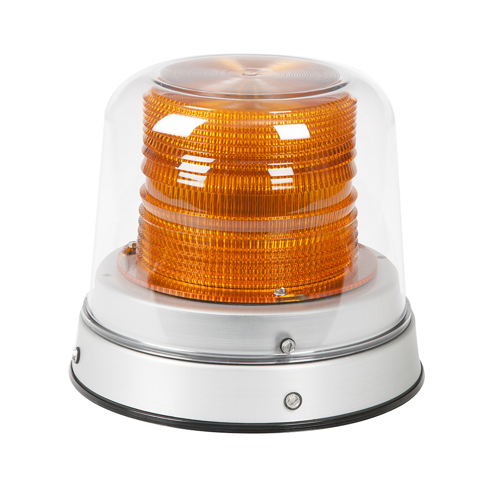 Grote Industries - 78013 – LED Beacon, Class I, Permanent Mount, Tall Dome, Amber, Clear Dome
