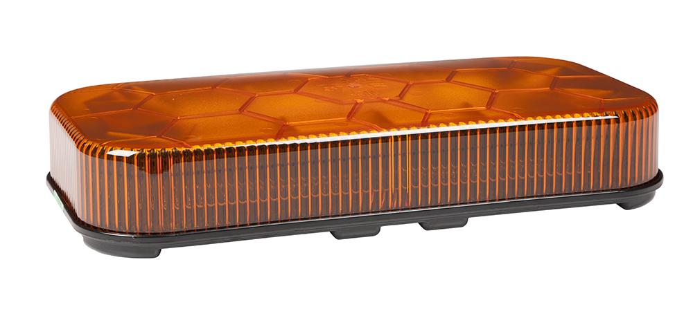 78023 – LED Mini Light Bar, Class I, Permanent Mount, Amber