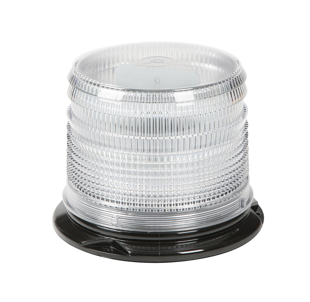Grote Industries - 78031 – LED Beacon, Class I, Permanent Mount, S-Link Compatible, Short Lens, White