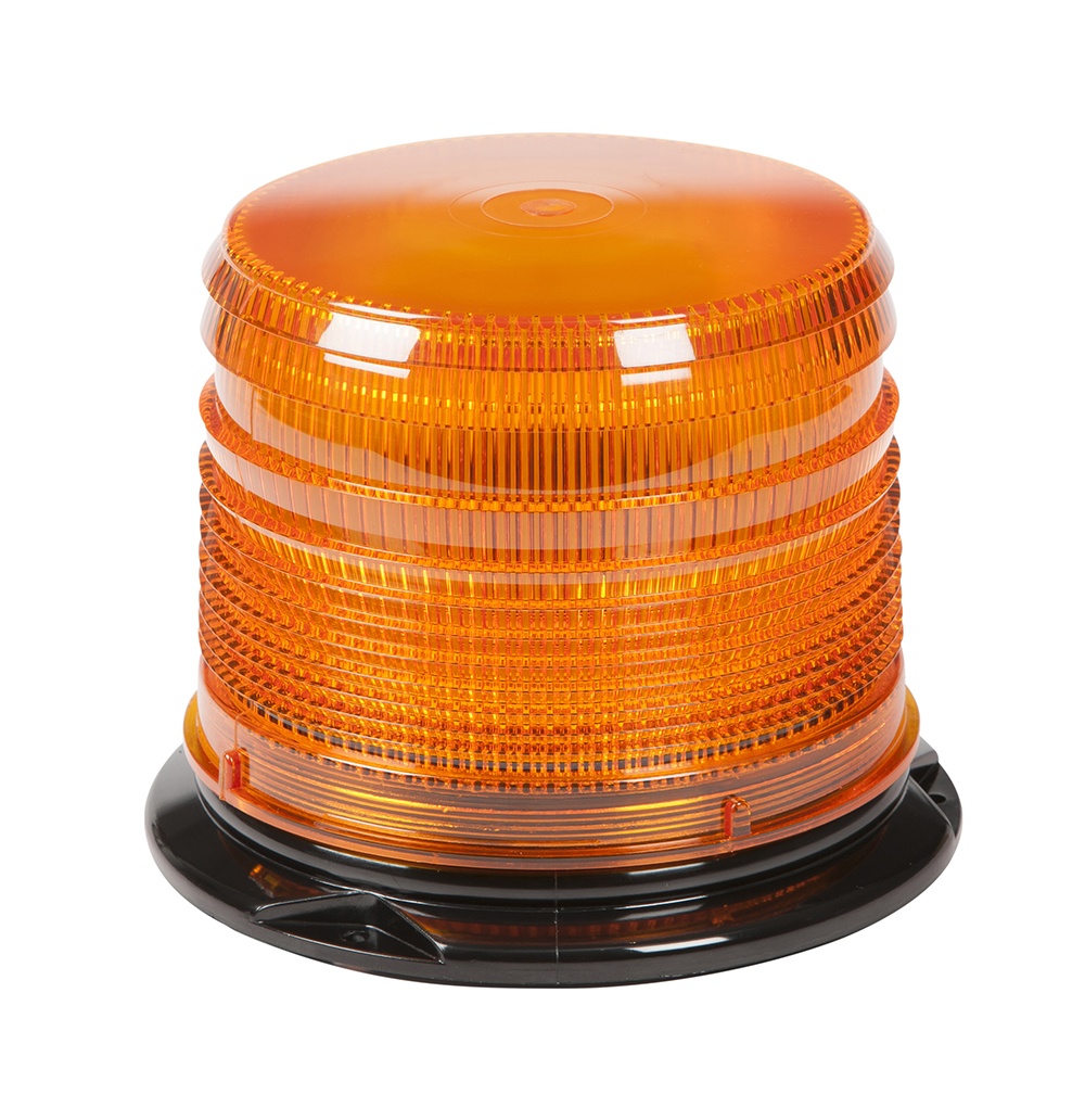 Grote Industries - 78033 – LED Beacon, Class I, Permanent Mount, S-Link Compatible, Short Lens, Amber