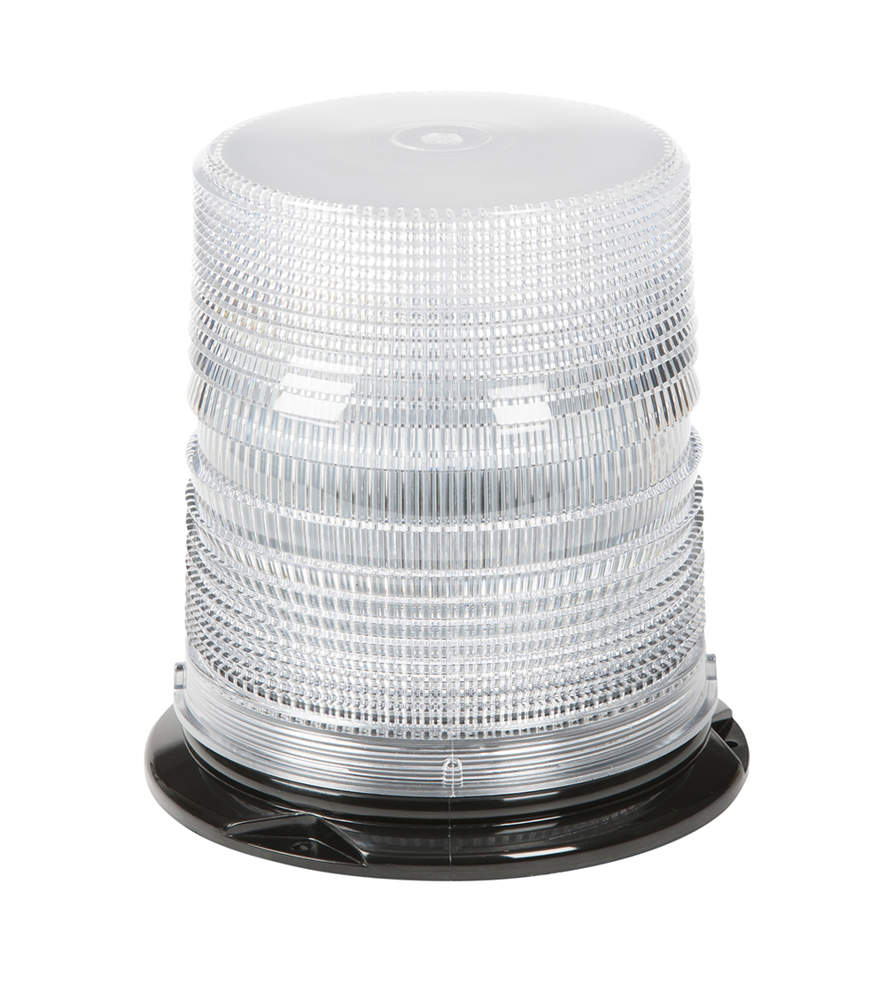 Grote Industries - 78051 – LED Beacon, Class I, Permanent Mount, S-Link Compatible, Tall Lens, White
