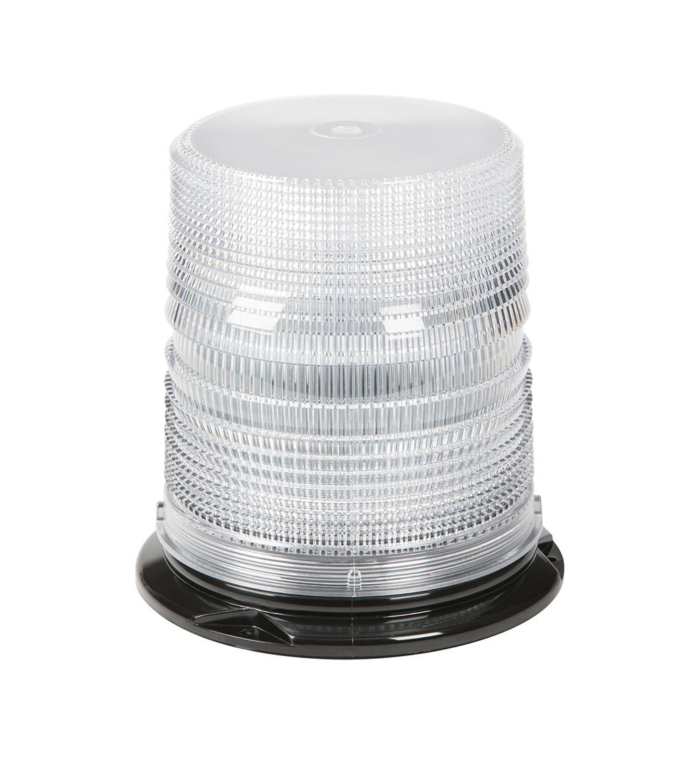 Grote Industries - 78061 – LED Beacon, High Profile, Class II, Permanent Mount, Tall Lens, White