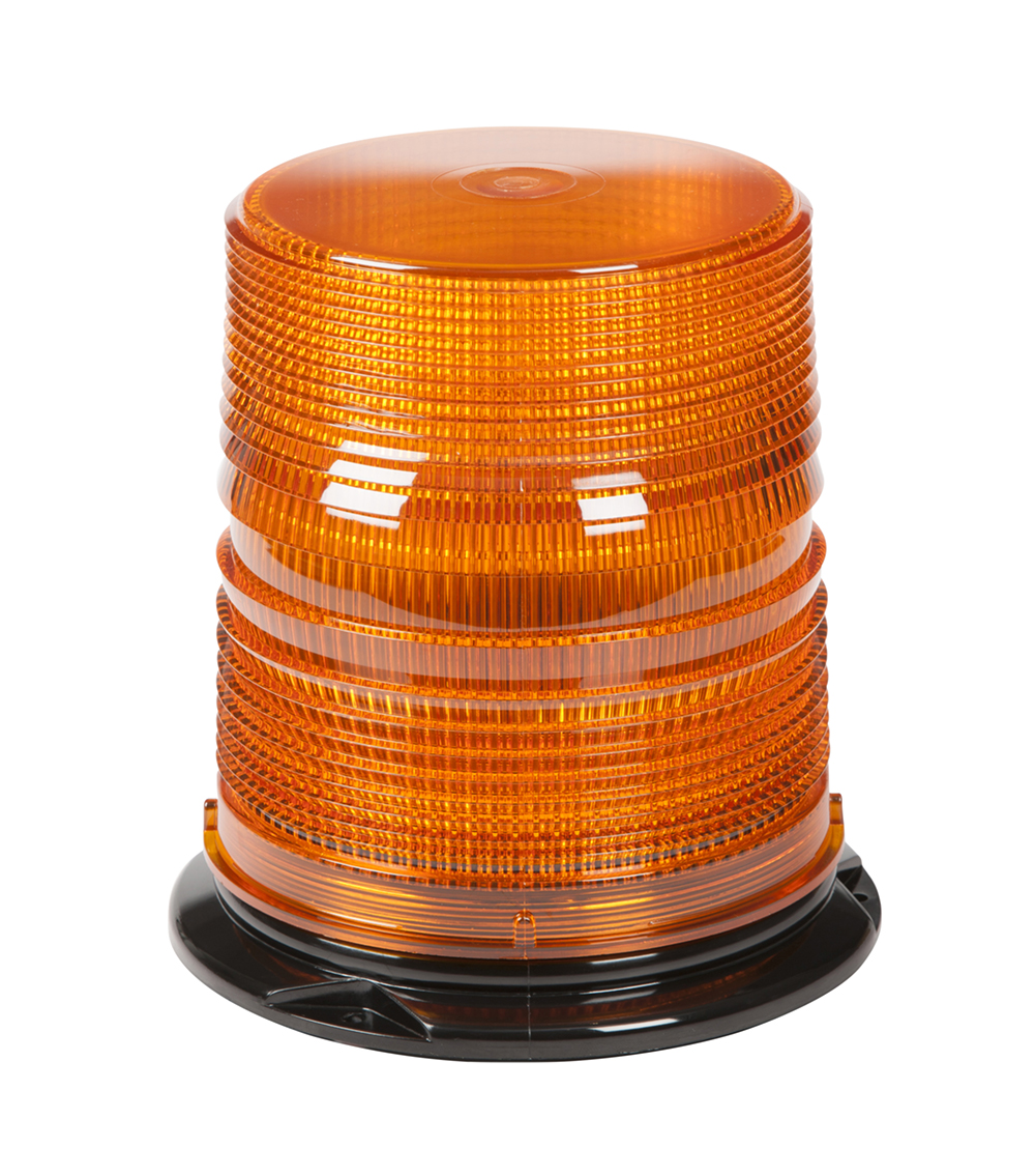 Grote Industries - 78063 – LED Beacon, High Profile, Class II, Permanent Mount, Tall Lens, Amber