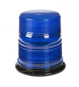 78065 – LED Beacon, High Profile, Class II, Permanent Mount, Tall Lens, Blue