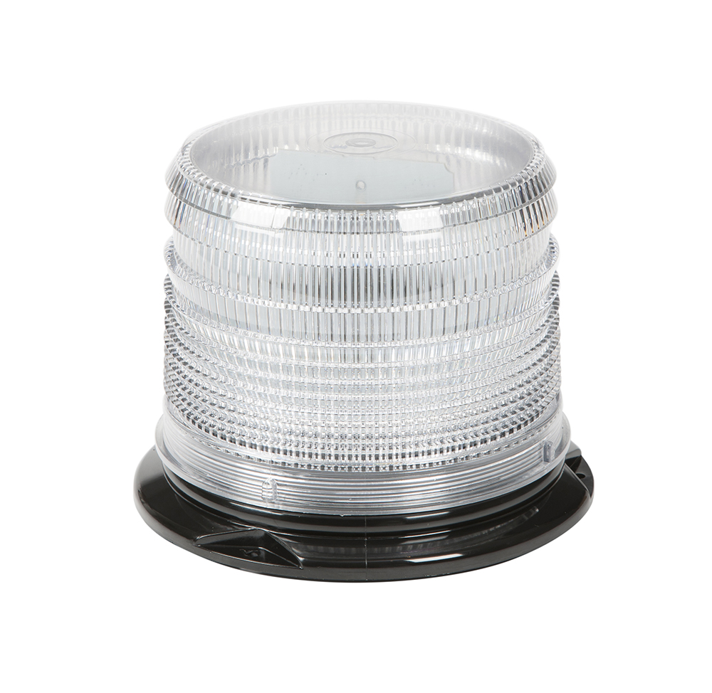 78071 – LED Beacon, Class I, Permanent Mount, Short Lens, Dual Color Amber/White