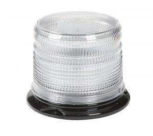 78075 – LED Beacon, Class I, Permanent Mount, Short Lens, Dual Color Amber/Blue