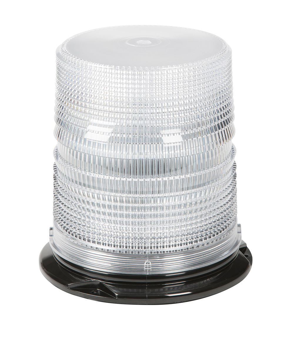 78081 – LED Beacon, Class I, Permanent Mount, Tall Lens, Dual Color Amber/White