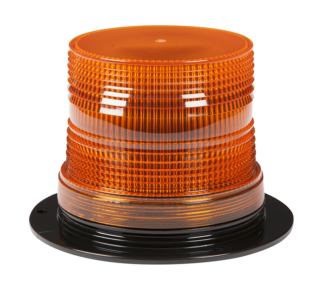 Grote Industries - 78093 – LED Material Handling Beacon, Class III, Permanent Mount, Short Lens, Amber