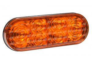 78193 – 6″ Oval LED Strobe Light, Class I, Grommet – Surface Mount, S-Link Compatible, Amber