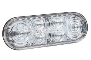 78195 – 6″ Oval LED Strobe Light, Class I, Grommet – Surface Mount, S-Link Compatible, Blue w/ Clear Lens