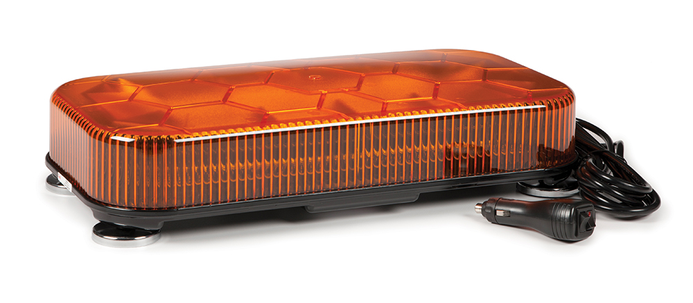Grote Industries - 78443 – LED Mini Light Bar, Class I, Magnetic Mount, Amber
