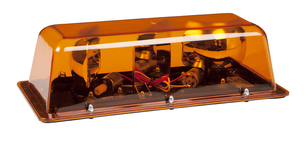 78513 – Halogen Rotating Mini Light Bar, Dual Rotator, Class I, Permanent Mount, Amber