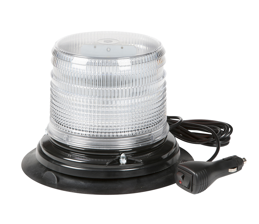 Grote Industries - 78861 – LED Beacon, Class II, Vacuum Mount, Short Lens, White