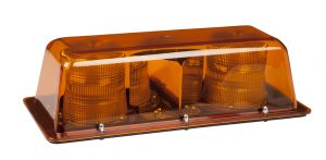 79023 – Halogen Dual Strobe Mini Light Bar, Class II, Permanent Mount, Amber