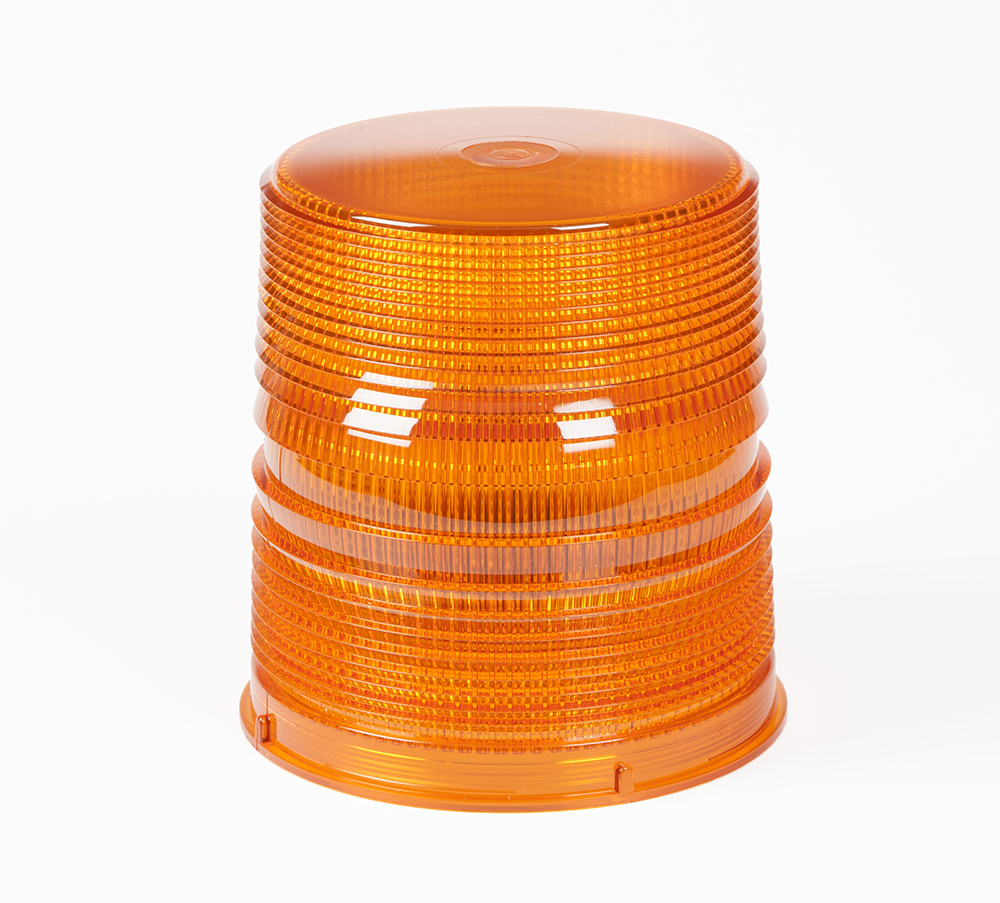 Grote Industries - 98173 – Warning & Hazard LED Beacon Replacement Lens, 6″, Tall, Amber