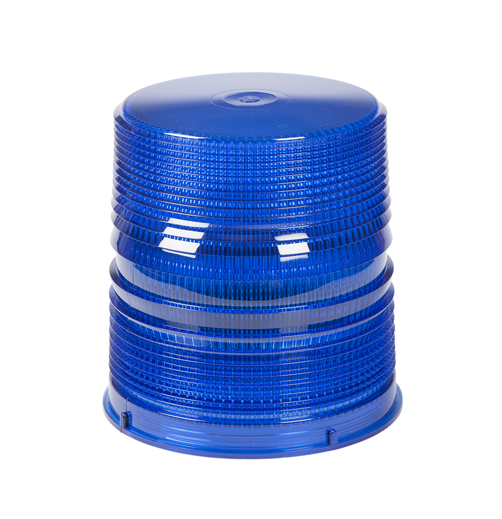 Grote Industries - 98175 – Warning & Hazard LED Beacon Replacement Lens, 6″, Tall, Blue