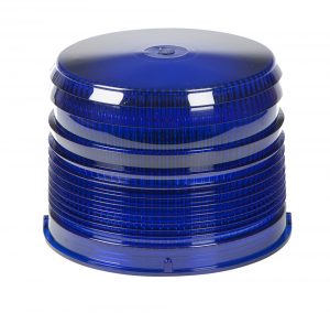 98225 – Warning & Hazard LED Beacon Replacement Lens, 4″, Short, Blue