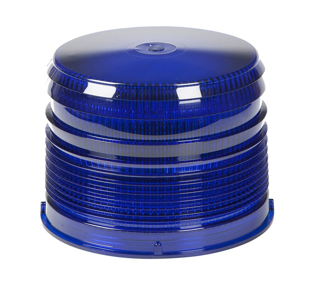 Grote Industries - 98225 – Warning & Hazard LED Beacon Replacement Lens, 4″, Short, Blue