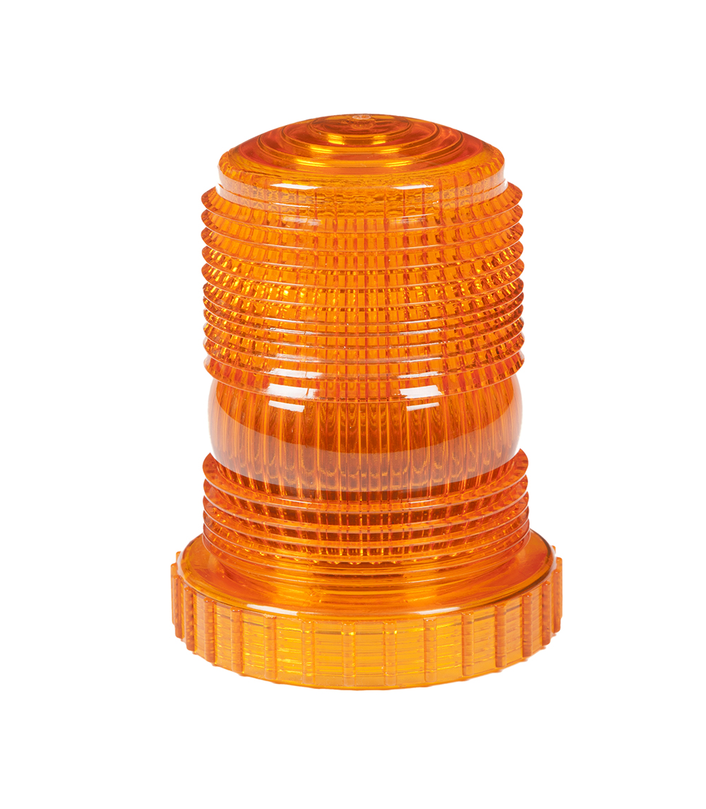 Grote Industries - 98293 – Warning & Hazard LED Beacon Replacement Lens, 3.9″ Height, Amber