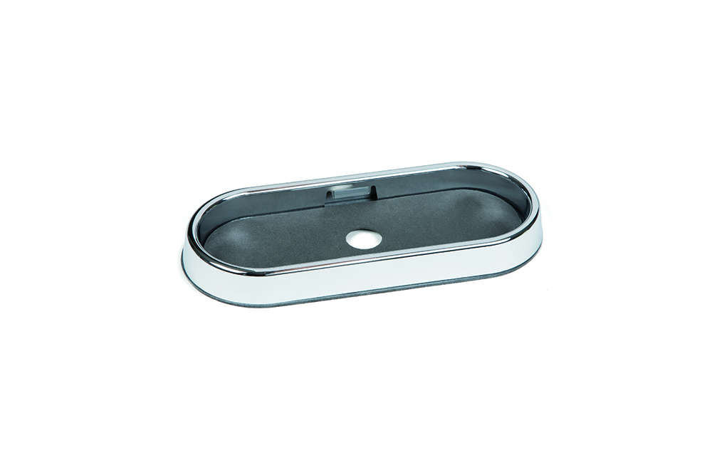 Grote Industries - 98480 – 6″ Oval Chrome Surface Mount Bezel