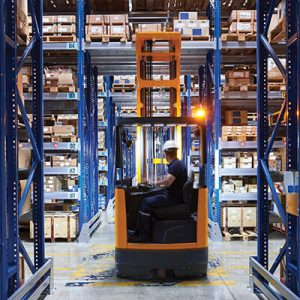 LED Beacon on fork lift