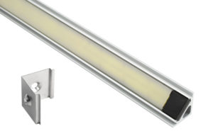 61R30 – XTL LED Light Strip in Mounting Extrusion, Opaque, Angle, 18.89 in | 480 mm