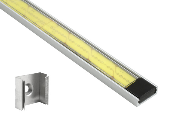 61T20 – XTL LED Light Strip in Mounting Extrusion, Clear, Flat, 18.89 in | 480 mm